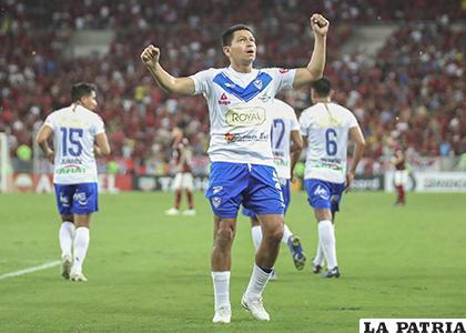 Saucedo anotó su quinto gol con la casaca