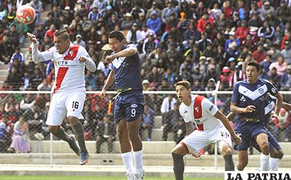 En el partido de ida empataron 3-3 en El Alto la tarde del 03/02/2019 / APG