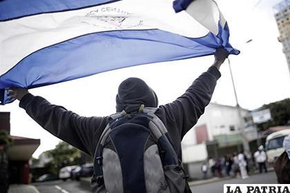 Manifestantes anónimos mostraron este sábado su rechazo hacia el presidente Daniel Ortega / YAHOO NOTICIAS