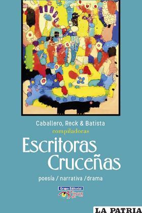 Tapa del libro acerca de escritoras cruceñas