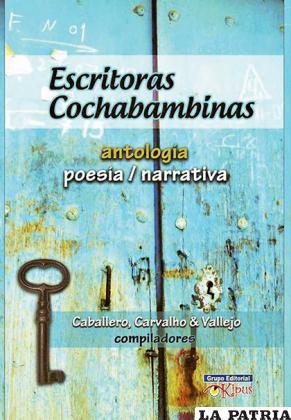 Tapa de la antología de escritoras cochabambinas / OPINI�?N