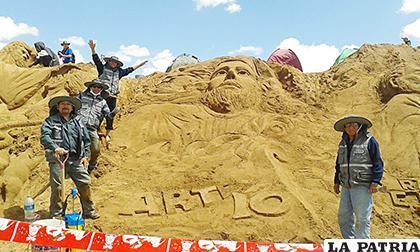 Este año no se realizaron las esculturas de arena /Arte 10 /Facebook