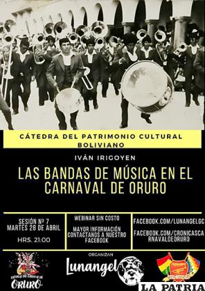 Expondrán la historia y evolución de las bandas en el Carnaval /RR.SS.