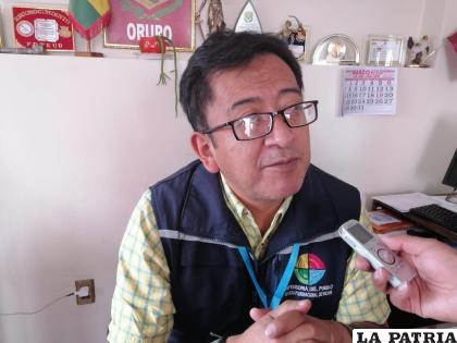 Delegado Defensorial de Oruro, José León /LA PATRIA