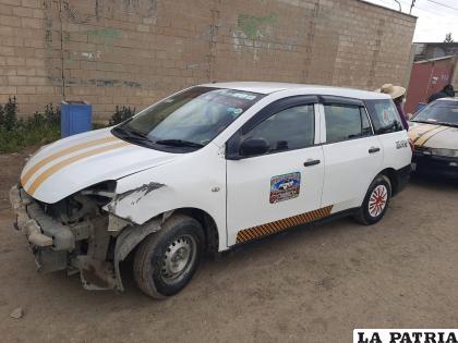 Vehículo afectado con daños de consideración /LA PATRIA