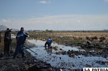 El agua está contaminada por plásticos y residuos de la ciudad