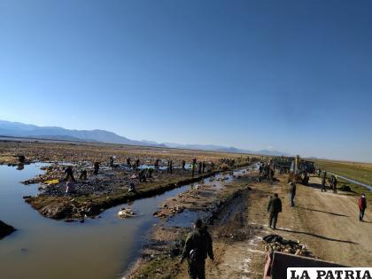 Se desplegó a 500 uniformados para la cruzada ambiental /LA PATRIA