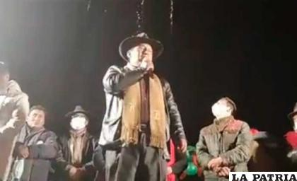 El candidato de Jallalla, Santos Quispe, se declaró ganador en La Paz /RR.SS.