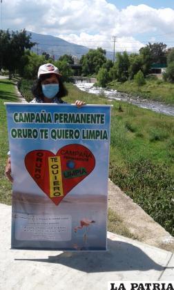 Beatriz Olmos responsable de ¡Oruro te quiero limpia! /¡Oruro te quiero limpia!