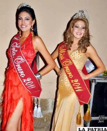 Odalis Alejandra Ticonipa Challapa, Señorita Oruro 2011 y María Cristina Iriarte Cadima, Miss Oruro 2011