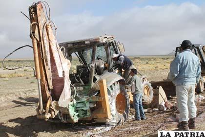 El tractor tuvo daños de mucha consideración