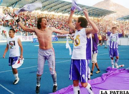 Jugadores de Real Potosí, quieren mantenerse en la punta