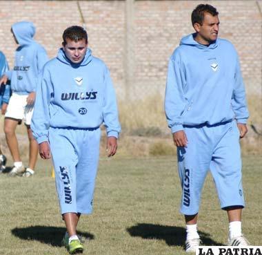 Botero y Juárez, jugadores de San José