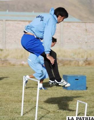 Luiz Carlos Vieira en pleno trabajo físico