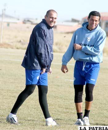 Sergio Jáuregui y Marcos Paz, jugadores de San José