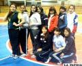 Integrantes de la selección orureña de voleibol