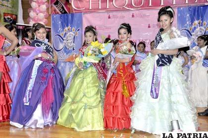 Ganadoras del certamen Miss Chiquitita realizado recientemente