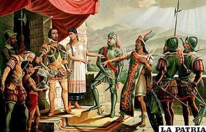 Conquista del Perú por Francisco Pizarro