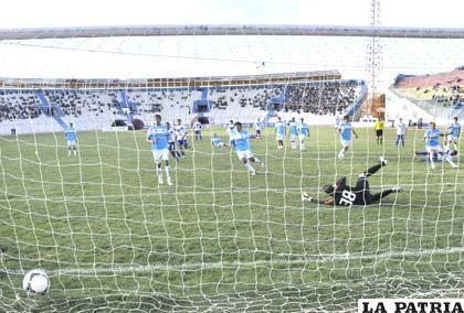 Didí Torrico aportó con un gol para la goleada de San José