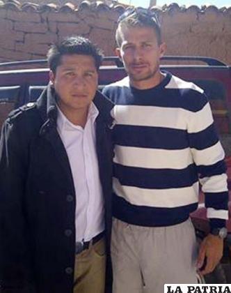 Marcelo Fernández junto a Claudio Centurión