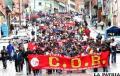 Participación de Evo en marcha  de COD cruceña ocasiona división