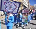 """Niños del """"Zaconeta"""" desfilaron por el Día Mundial Sin Tabaco"""