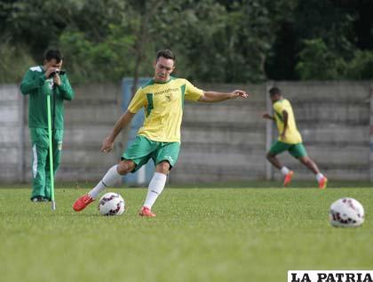 Damián Lizio con la esperanza de quedarse en la selección
