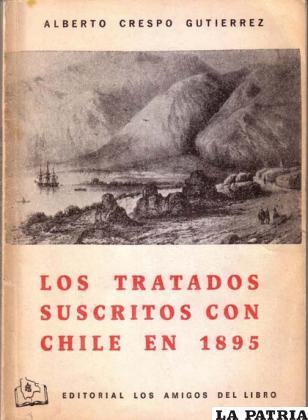 Libro acerca de los tratados que suscribió Chile con Perú y Bolivia