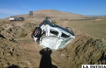 El jeep quedó con daños materiales de consideración