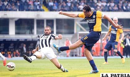 Hellas Verona y Juventus terminaron empatando 2-2