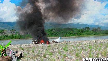 Fue incendiada avioneta que pretendía trasladar droga / DIARIONOTICIAS.PE
