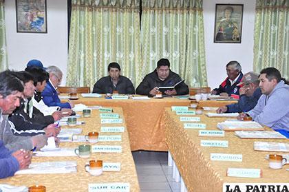 Fueron pocos los dirigentes que se presentaron en la reunión de la AFO