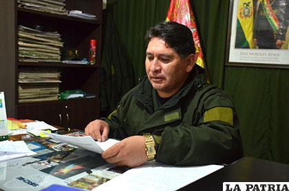 El director de la Felcc, teniente coronel Iván Luizaga, informó del caso