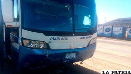 El bus de la empresa Trans Azul