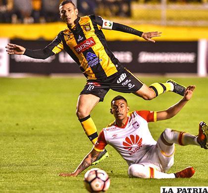 En el partido que ganó The Strongest 2-0 en La Paz el 09/03/2017 /APG