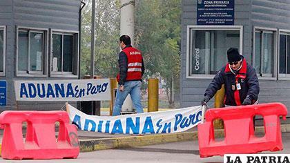 Trabajadores de Aduanas paralizarán sus actividades desde este miércoles