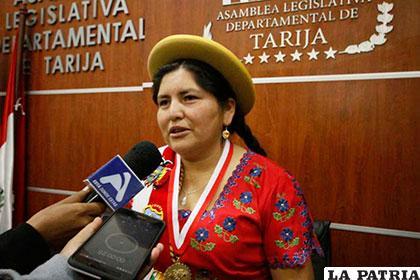 La presidenta de la Asamblea Legislativa Departamental, Sara Armella /Asamblea Legislativa Departamental de Tarija