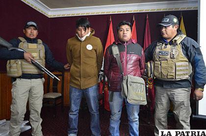 Los sujetos de La Paz fueron presentados anoche a la prensa
