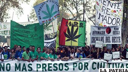 Miles de chilenos con pancartas en mano salieron a las calles a favor del cultivo de la marihuana sin restricciones /unionradio.net