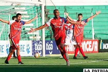 Thiago Ribeiro fue autor del único gol del compromiso /APG