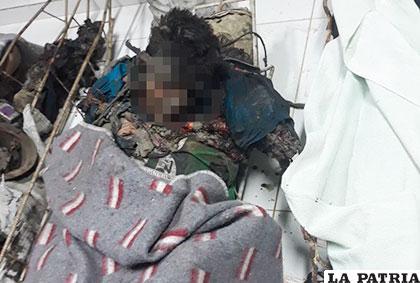 Una de las víctimas de la explosión /Archivo