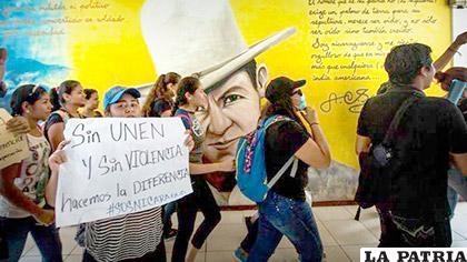 Estudiantes de la estatal Universidad Nacional Autónoma de Nicaragua (UNAN), exigieron la expulsión de la directiva estudiantil /eldiario.es