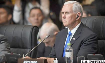 Pence pidió a los países del hemisferio, durante su  discurso, la suspensión de Venezuela de la OEA /El Nuevo Diario