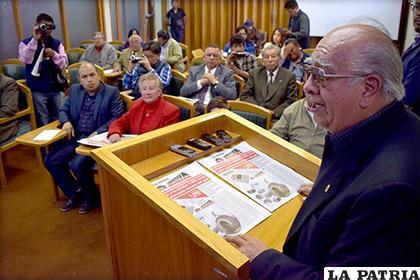 El presidente de la Asociación de Periodistas de Oruro, Jorge Lazzo /Archivo