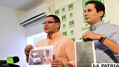 Los diputados de Unidad Demócrata Tomás Monasterio y Pablo Barrientos /ERBOL