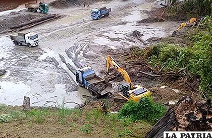 Explotación ilegal de oro en Arcopongo /La Voz de Tarija