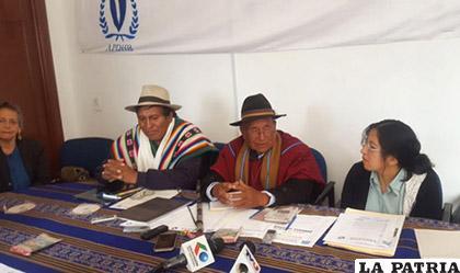 Los actuales representantes del Conamaq orgánico /ANF