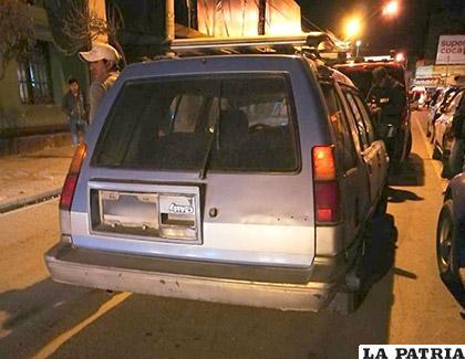 El vehículo del conductor ebrio que provocó el incidente
