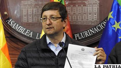 El senador Oscar Ortiz en rueda de prensa se refiere al caso Odesur /ANF