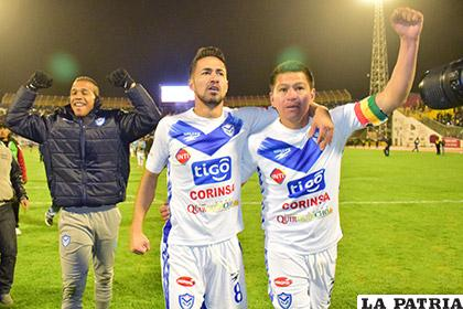 Reinoso, Ramallo y Saucedo celebran la clasificación a la semifinal